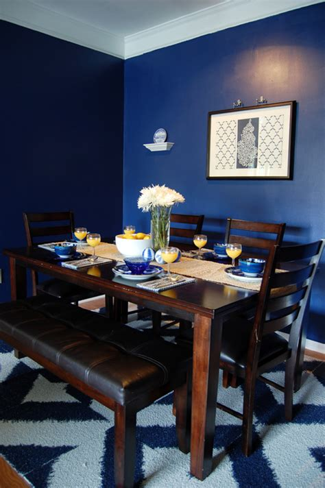 best dark blue paint for dining room finished designs