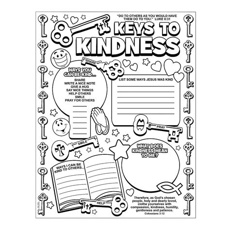 coloring pages kindness bible crafts on kindness