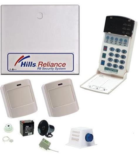 hills reliance 8 / nx8 alarm kit inc. wireless detectors