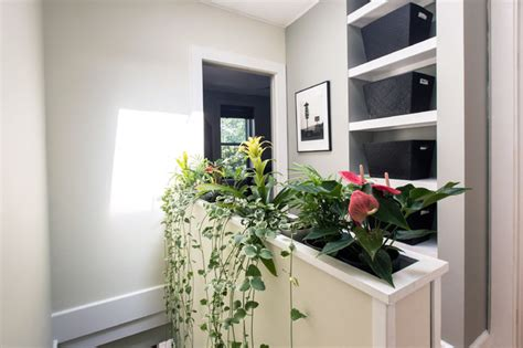 Half Wall Planter planter half wall bedroom other metro by shadiworks