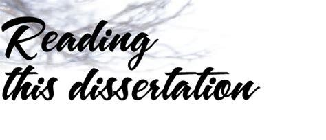 read dissertations dissertation reading