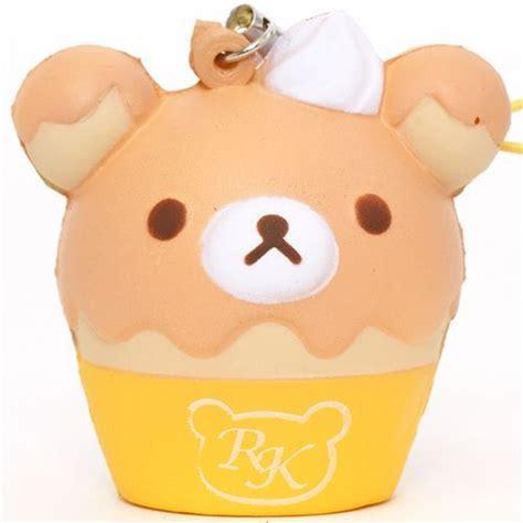 yellow rilakkuma cupcake squishy cellphone charm