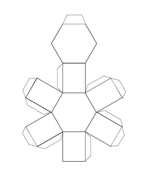 Hexagonal Prism Template Printable