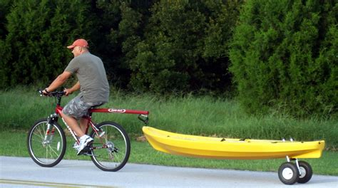 cart for bike kayak dolly dumb stick for bike getting your kayak to the water