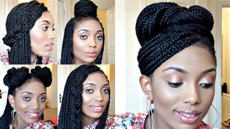 elegant hairstyles with box braids updo styles for box braids styling box braids 6 simple
