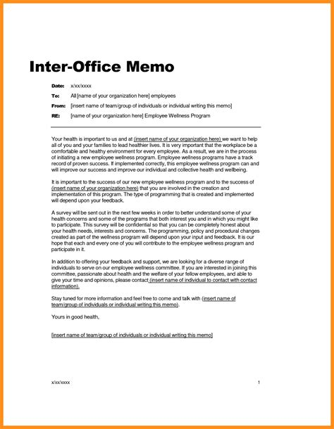 official memo template gallery of employee memo sles