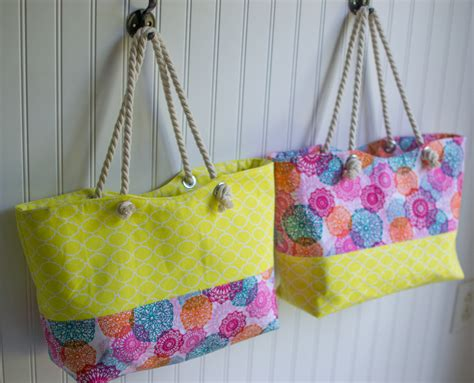 easy tote bag pattern with pockets rope handled tote bag easy sewing pattern sewcanshe