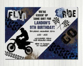 printable birthday cards with motorcycle motocross birthday invitation motocross invite motocross