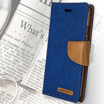 mercury canvas diary iphone 6s 6 wallet blue camel