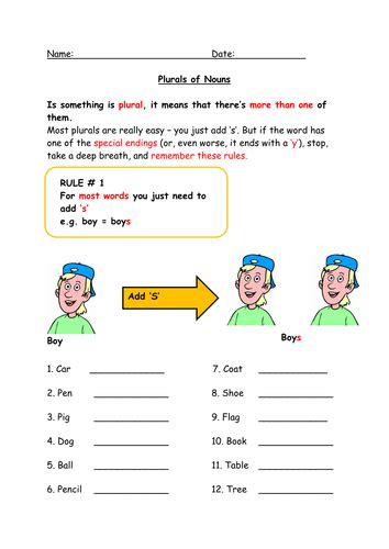 tes new year activities ks2 plurals worksheet and revision for ks2 or low ability ks3