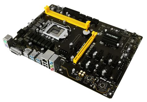Biostar Tb250 Btc Lga1151 Intel B250 Ddr4 6 Pcie Bisa 6 Vga biostar s tb250 btc pro motherboard supports up to 12 gpus for mining oc3d news