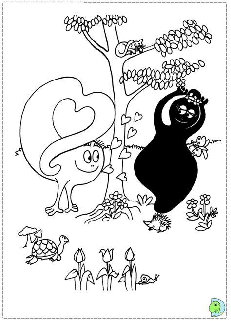barbapapa coloring page on dinokids org