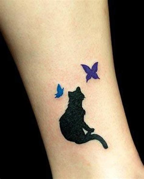 wallpaper cat tattoo black shadow cat tattoo style design my free wallpapers