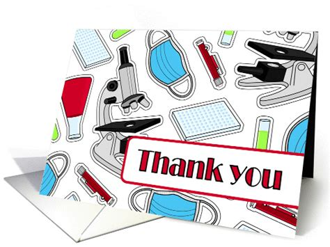 Thank You Letter Laboratory Technician laboratory technician thank you card white card 1278014