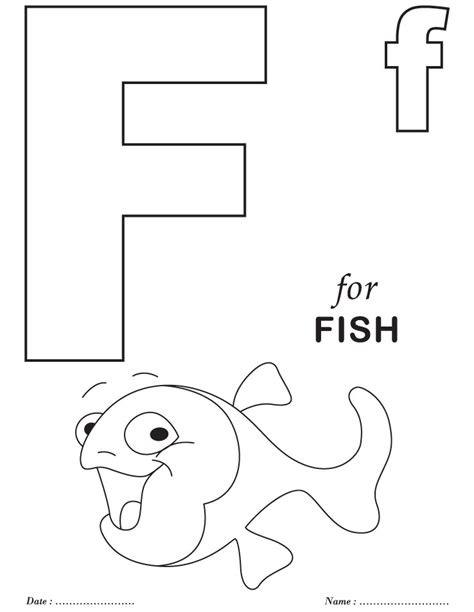 free coloring pages of f worksheets