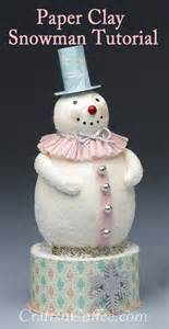 Step by step, you can make this Pastel Paper Clay Snowman   Crafts 'n Coffee