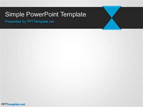 template in powerpoint free simple ppt template