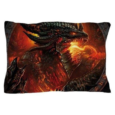 Fire Dragon Pillow Case by DevilishDecorum