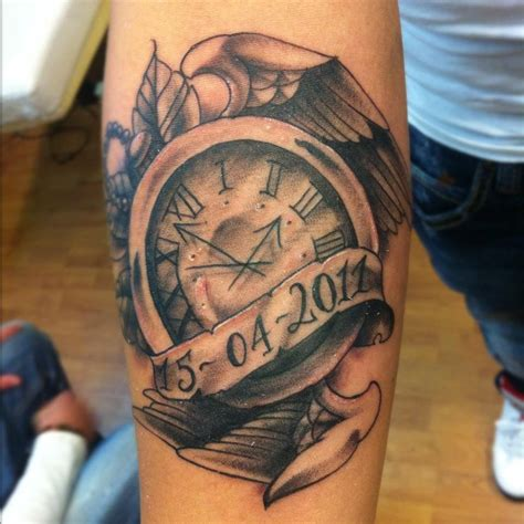 time clock tattoos the gallery for gt time clock designs for