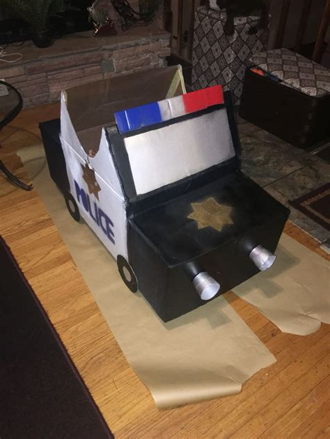 box car for police car out of cardboard boxes craft pinterest