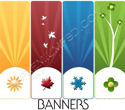 banner design resolution high resolution 4 assorted banners design psd download