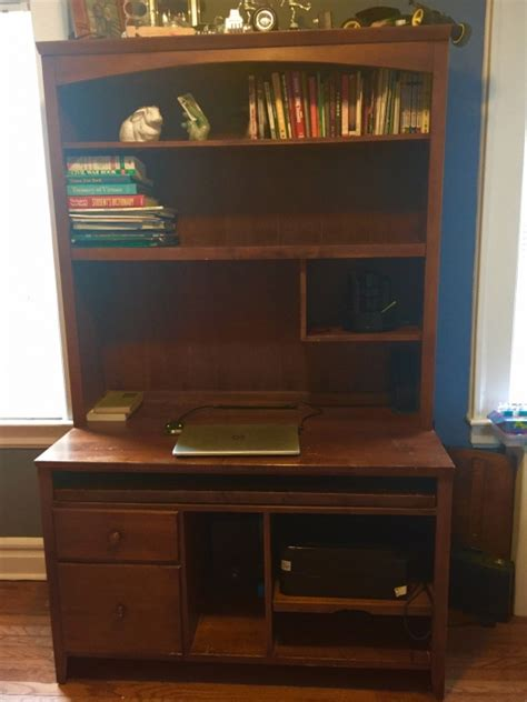 ethan allen desk with hutch ethan allen cherry computer desk with hutch