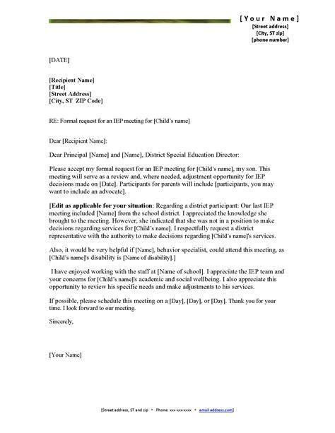 Parent Letter Requesting Iep autism momma iep request letter