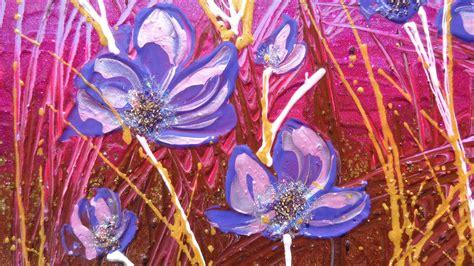 dipinti di fiori astratti fiori astratti viola vendita quadri quadri
