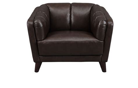 Grain Leather Chair by Frances Top Grain Brown Leather Chair