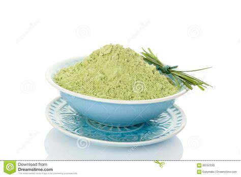 Algae Used For Detox by Green Barley Detox Chlorella Stock Photo Cartoondealer