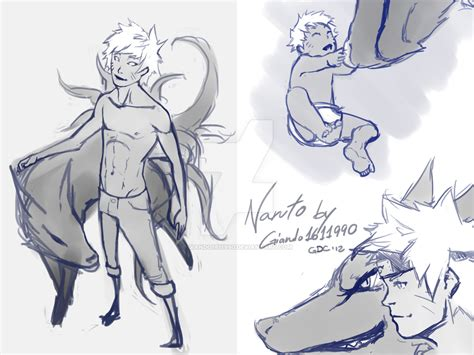 naruto and kurama sketches by giando1611990 on deviantart
