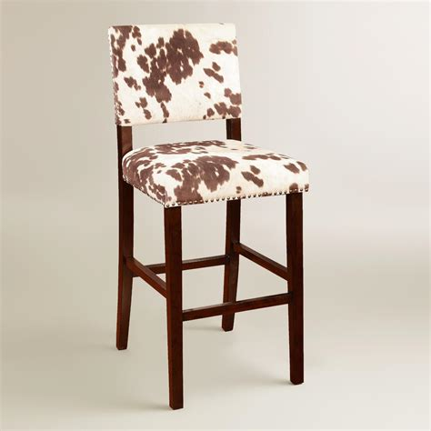 Cowhide Print Bar Stools by Brown Cow Print Bar Stool World Market