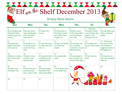 printable magic elf story free elf on the shelf month long printable