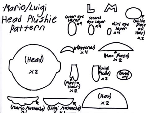 yoshi plush template image mario luigi plushie template by grnmarco d56jdv7