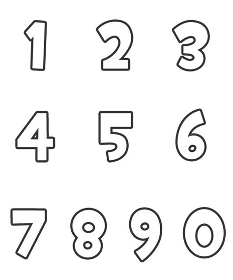 printable number images free number 0 cut out coloring pages