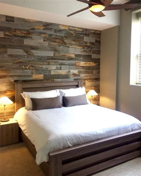 picture of faux pallet wall is made from thin pieces of actual wood