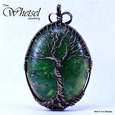 Infinity Pendant Orgonite glow in the tree of orgonite pendant handmade wire wrap 183 wire wrapped jewelry by