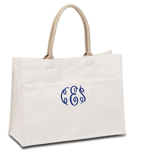monogram wedding tote bags personalized