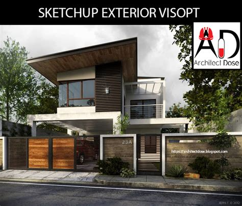 exterior design pictures free download sketchup exterior and interior visopt on behance
