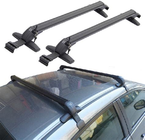 Cross Bar Hitam Jepit Roof Rail Isuzu Panther 2020 jual cross bar kaki rak model jepit tanpa roof rail universal roof rack roof rail