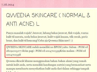 Qweena Bpom xiao vee cara cek nomor registrasi bpom pada produk kosmetik