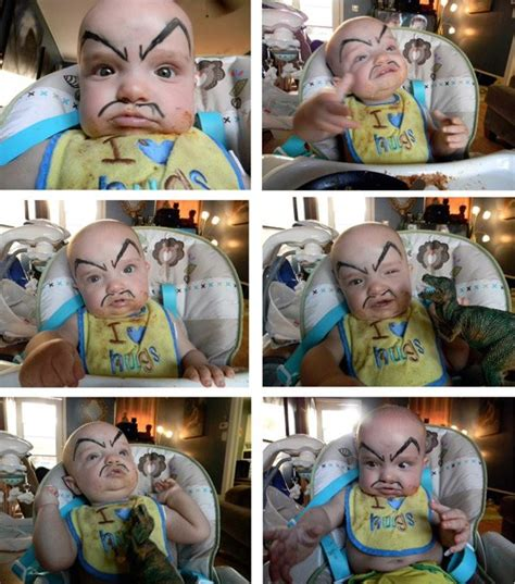 Mustache Dad Meme - drawing eyebrows on babies will not disappoint you don t