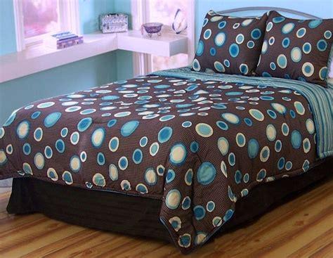 blue polka dot comforter set brown blue polka dot comforter set kidsroomstore 99 99