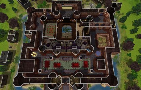 Ranch House Blueprints mod the sims flesh and bones the vampire castle
