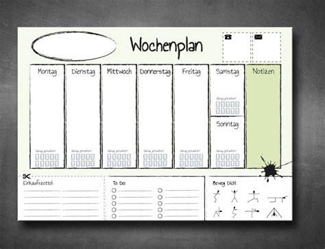 Wochenplan Haushalt Familie 4630 by Schreibtischunterlage Din A2 Abrei 223 Block 25 Blatt To Do