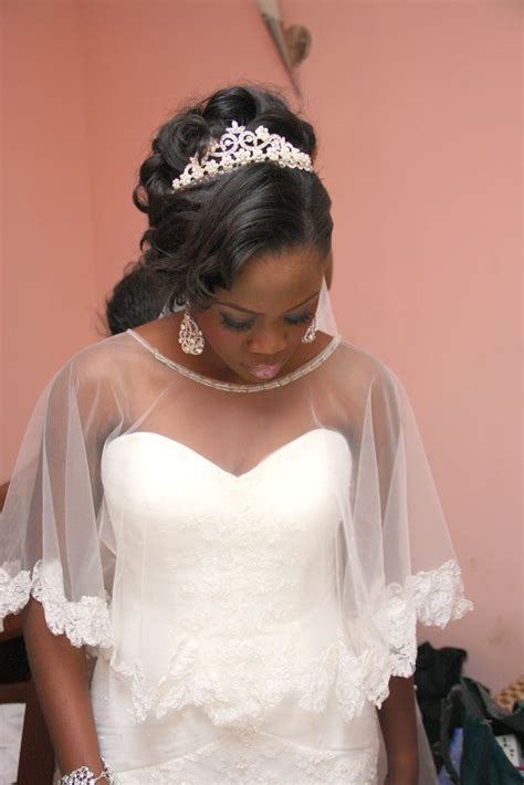 nigerian bridal hairstyles nigerian wedding love the modified veil wed dress