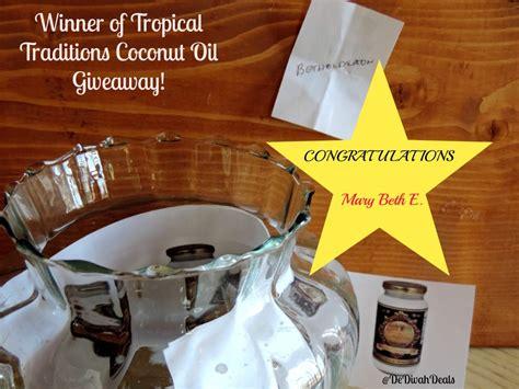 Tropical Traditions Giveaway - tropical traditions virgin coconut oil giveaway spon dedivahdeals
