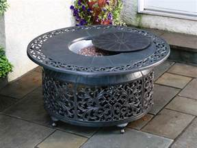 Patio Table With Firepit Alfresco Home Bellagio Cast Aluminum 48 Propane Gas Pit Table 55 1306
