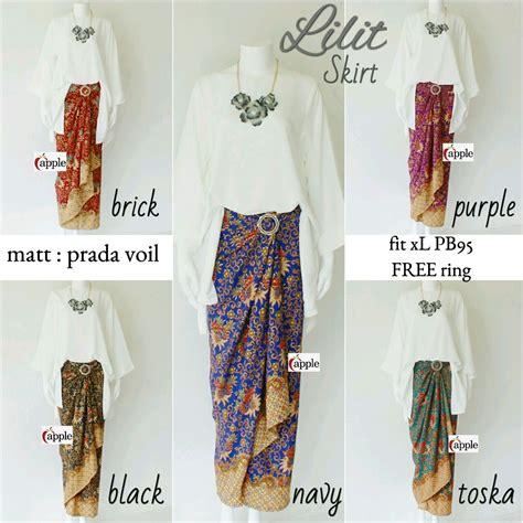 Rok Lilit Batik Blackpurple Km jual rok bawahan wanita muslim skirt model terbaru lilit skirt asika batik