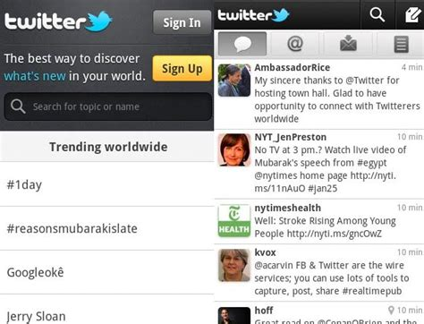 new twitter layout android twitter for android becomes more like other twitter apps